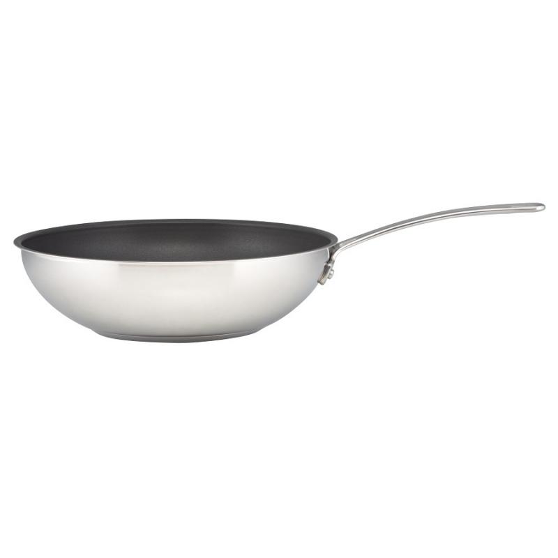 Сковорода-вок Genesis 30 см нержавеющая сталь